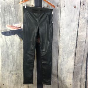 Divided H & M Black Faux Leather Leggings Size 12